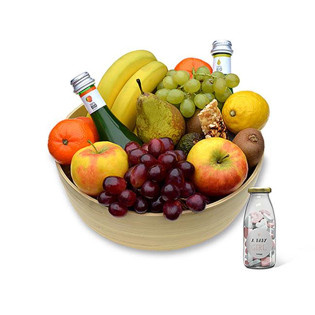 luxe fruitmand + geboorte